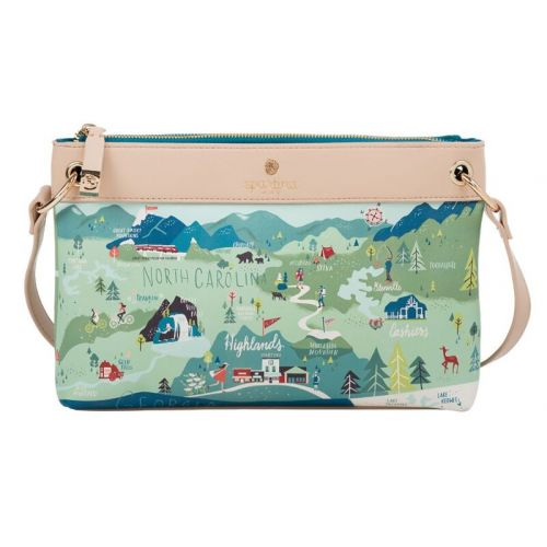 "Spartina 449 ""Greetings From"" Zip Wristlet - Blue Ridge Mountains"